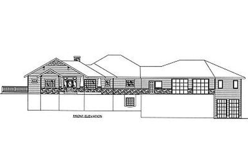 Bungalow Exterior - Other Elevation Plan #117-515 - Houseplans.com