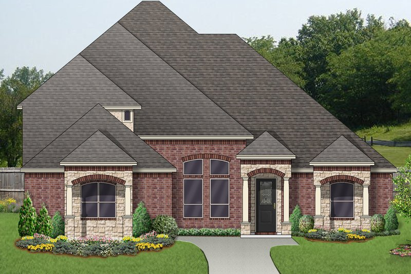 Mediterranean Exterior - Front Elevation Plan #84-620 - Houseplans.com