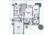 Colonial Style House Plan - 4 Beds 2.5 Baths 2190 Sq/Ft Plan #310-806 Floor Plan - Main Floor