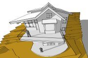 Modern Style House Plan - 4 Beds 4 Baths 2869 Sq/Ft Plan #902-3 Exterior - Other Elevation