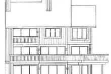 House Blueprint - Contemporary Exterior - Rear Elevation Plan #72-180