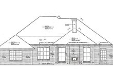House Plan Design - European Exterior - Rear Elevation Plan #310-970