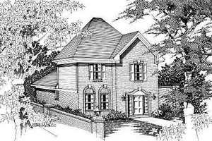 Colonial Exterior - Front Elevation Plan #329-216