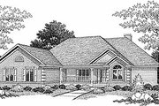 Traditional Style House Plan - 3 Beds 2.5 Baths 3015 Sq/Ft Plan #70-301 Exterior - Front Elevation
