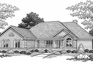 Traditional Exterior - Front Elevation Plan #70-301