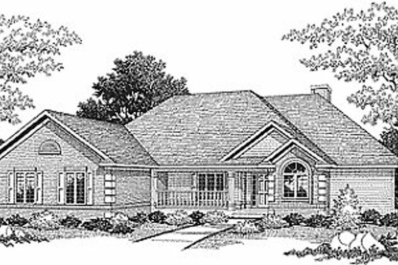 Traditional Exterior - Front Elevation Plan #70-301 - Houseplans.com