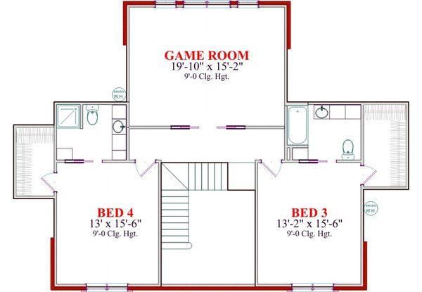 Classical Floor Plan - Upper Floor Plan Plan #63-319