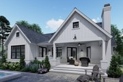 Farmhouse Style House Plan - 3 Beds 2 Baths 1486 Sq/Ft Plan #120-262 Exterior - Rear Elevation