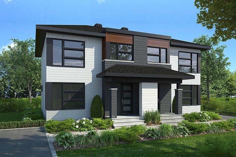House Plan Design - Modern Exterior - Front Elevation Plan #23-2639