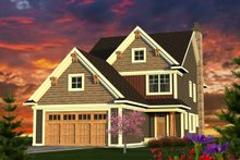 Architectural House Design - Craftsman Exterior - Front Elevation Plan #70-1221