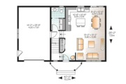 Traditional Style House Plan - 3 Beds 2.5 Baths 1465 Sq/Ft Plan #23-2624 Floor Plan - Main Floor