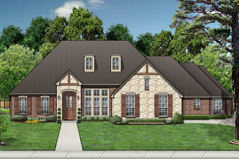 Traditional Exterior - Front Elevation Plan #84-384 - Houseplans.com