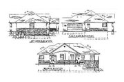 Traditional Style House Plan - 3 Beds 2.5 Baths 1750 Sq/Ft Plan #5-119 Exterior - Rear Elevation