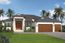 Dream House Plan - Contemporary Exterior - Front Elevation Plan #938-110