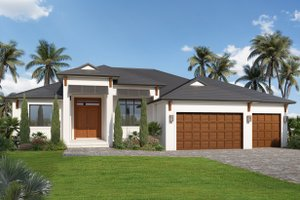 House Blueprint - Contemporary Exterior - Front Elevation Plan #938-110