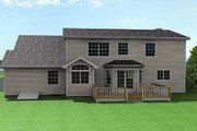 Farmhouse Style House Plan - 3 Beds 2.5 Baths 1728 Sq/Ft Plan #75-105 Exterior - Rear Elevation