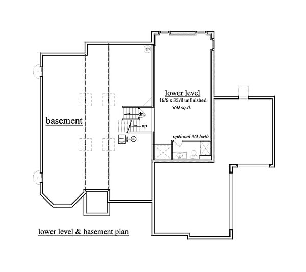 European Floor Plan - Lower Floor Plan Plan #459-3