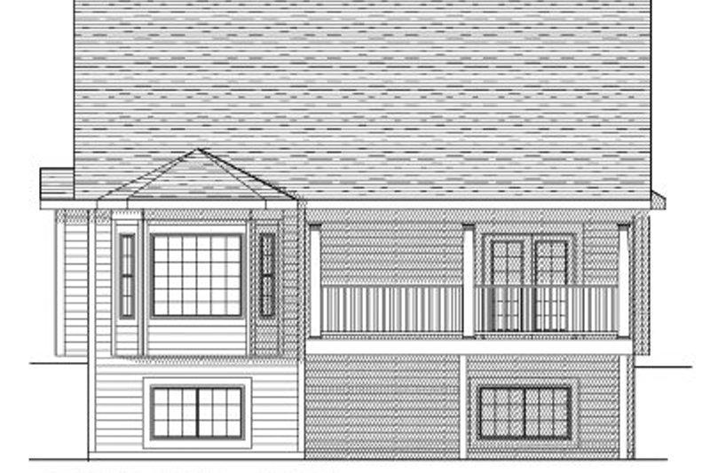 Traditional Exterior - Rear Elevation Plan #70-798 - Houseplans.com