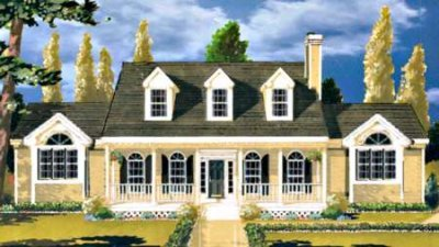 Southern Exterior - Front Elevation Plan #3-188