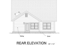Cottage Exterior - Rear Elevation Plan #513-11