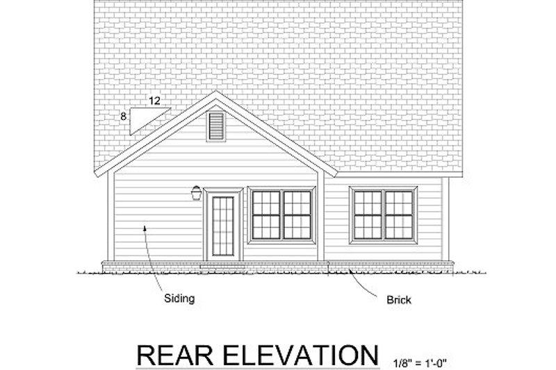 Cottage Exterior - Rear Elevation Plan #513-11 - Houseplans.com