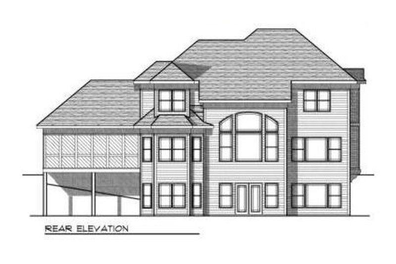 European Exterior - Rear Elevation Plan #70-697 - Houseplans.com