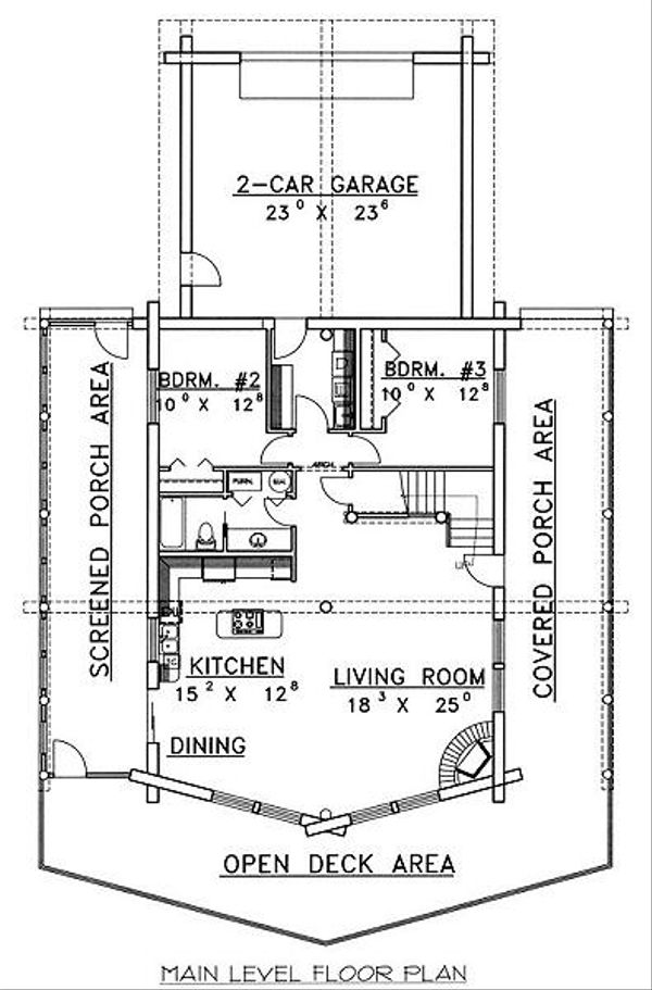 Log Floor Plan - Main Floor Plan #117-503