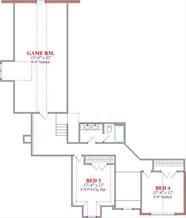 European Floor Plan - Upper Floor Plan Plan #63-167