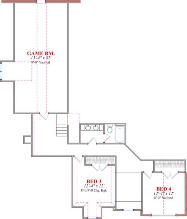 House Design - European Floor Plan - Upper Floor Plan #63-167
