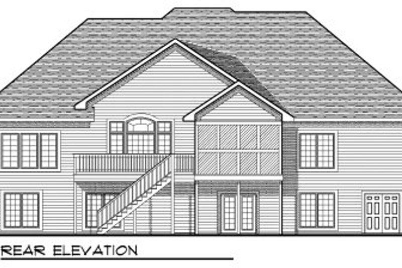 European Exterior - Rear Elevation Plan #70-821 - Houseplans.com
