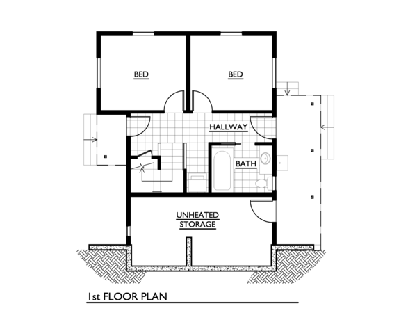 Cottage Floor Plan - Main Floor Plan #890-3