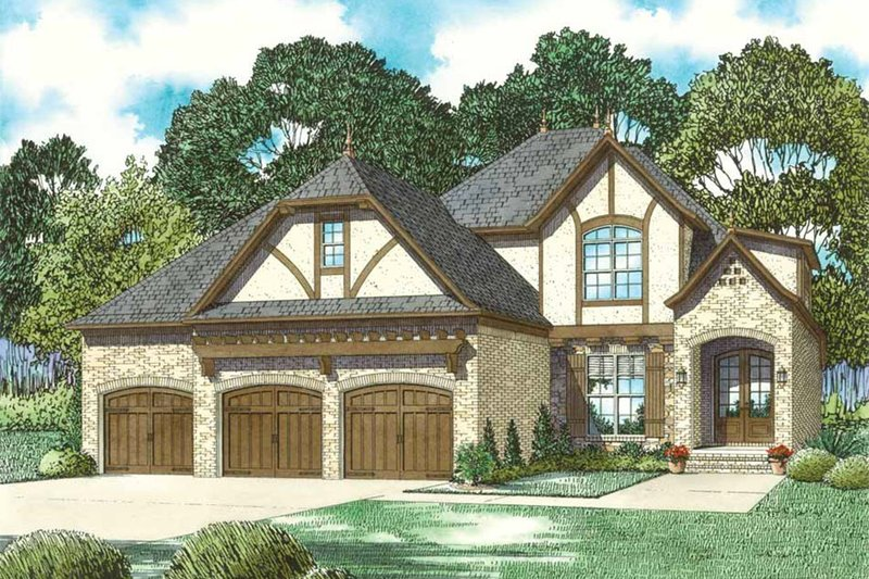 Dream House Plan - European Exterior - Front Elevation Plan #17-2597