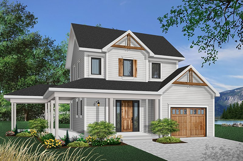 Home Plan - Country Exterior - Front Elevation Plan #23-2164