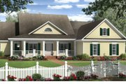 Country Style House Plan - 4 Beds 2.5 Baths 2204 Sq/Ft Plan #21-304 Exterior - Front Elevation