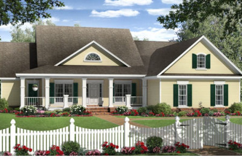 Country Exterior - Front Elevation Plan #21-304 - Houseplans.com
