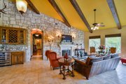 Mediterranean Style House Plan - 4 Beds 5 Baths 4320 Sq/Ft Plan #80-199 Interior - Family Room