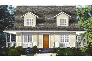 Home Plan - Country Exterior - Front Elevation Plan #3-284