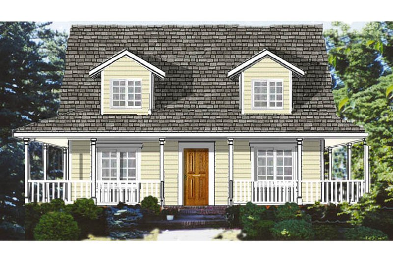 Country Exterior - Front Elevation Plan #3-284