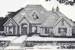 Colonial Exterior - Front Elevation Plan #310-881