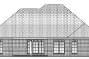 Traditional Style House Plan - 4 Beds 2 Baths 1850 Sq/Ft Plan #430-54 Exterior - Rear Elevation