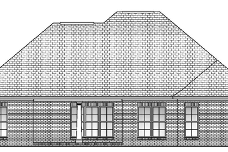 Traditional Exterior - Rear Elevation Plan #430-54 - Houseplans.com