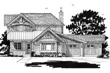 Country Exterior - Front Elevation Plan #942-47