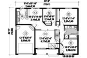 Classical Style House Plan - 3 Beds 1 Baths 1113 Sq/Ft Plan #25-4428 Floor Plan - Main Floor Plan