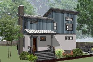 Modern Exterior - Front Elevation Plan #79-296