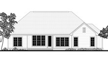 House Plan Design - Craftsman Exterior - Rear Elevation Plan #430-159