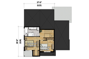 Modern Style House Plan - 2 Beds 1 Baths 1755 Sq/Ft Plan #25-4608 Floor Plan - Upper Floor Plan