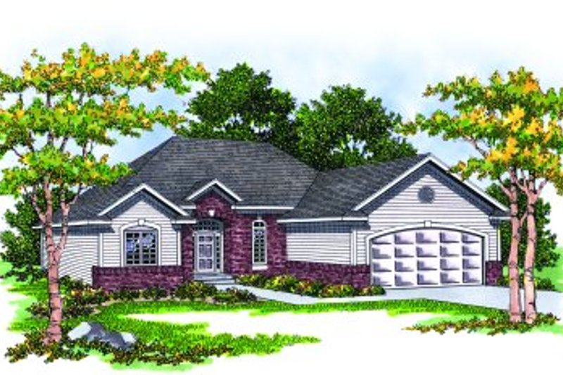 Traditional Style House Plan - 3 Beds 2 Baths 1460 Sq/Ft Plan #70-129 Photo