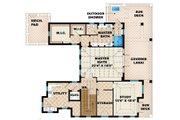 Mediterranean Style House Plan - 2 Beds 2.5 Baths 3996 Sq/Ft Plan #27-450 Floor Plan - Upper Floor Plan