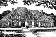 European Style House Plan - 4 Beds 3.5 Baths 4166 Sq/Ft Plan #310-229 Exterior - Front Elevation