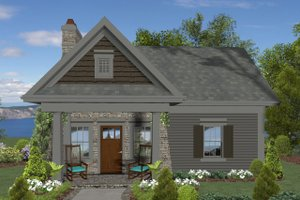 Cottage Exterior - Front Elevation Plan #56-715